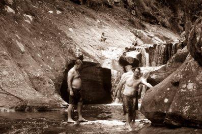 Bushwalk the 'Gong and Dapto History in Photos crew enjoying Jump Rock