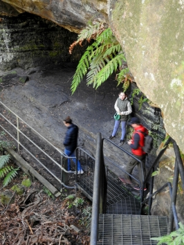 Looking down to the mine cuttings