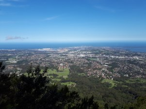 Beautiful Wollongong views from Mt Kembla
