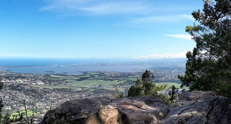 Spectacular views from Mt Kembla Summit, taking in Lake Illawarra and the gorgeous Wollongong coastline.